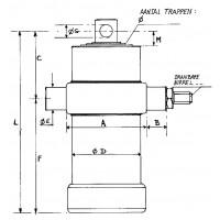 Telescoopcilinder 2-traps