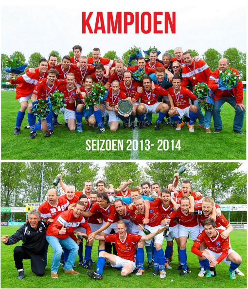 SC Spirit'30 Kampioen seizoen 2013-2014
