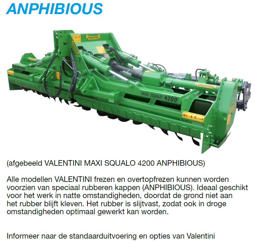 Valentini Maxi Squalo Anphibious hydraulisch opklapbare overtopfrees